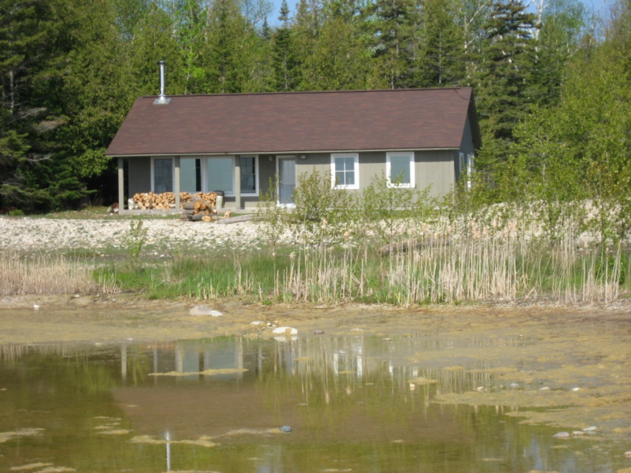 Michigan Lakefront Cabin Rentals Lakefront Cabin In